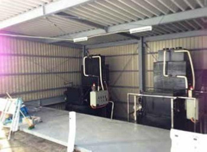 磁気熱分解装置の温泉施設設置例