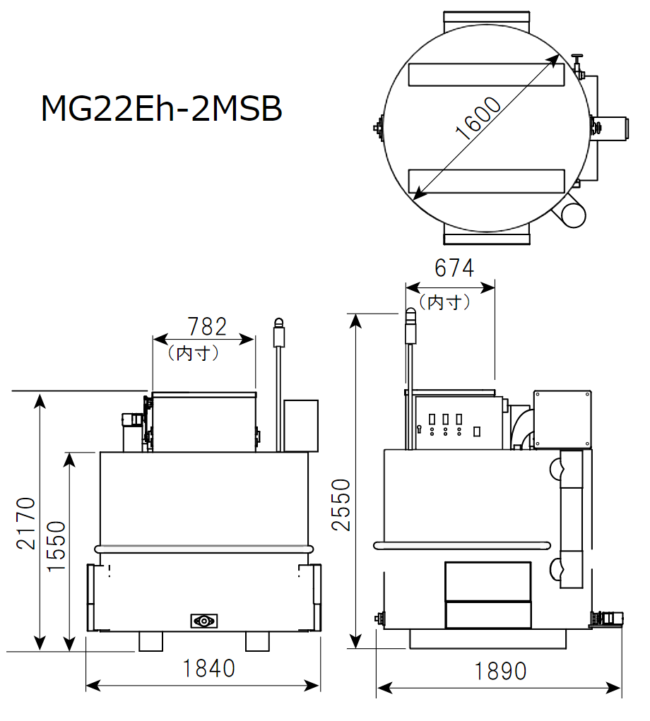 磁気熱分解装置 5㎥ MG22Eh-5MSB