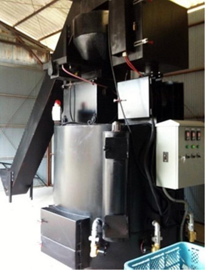 磁気熱分解装置の食品加工業者設置例