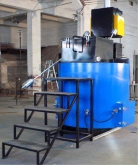 磁気熱分解装置のリサイクル施設設置例