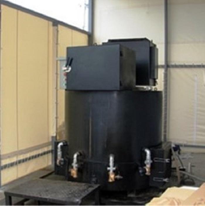 磁気熱分解炉のリサイクル施設設置例